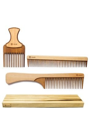 classik kit pente de madeira p cabelo liso kit 06 2