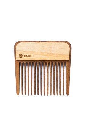 classik pente de madeira p bolso g 7 x 6 1 cm pbo 01