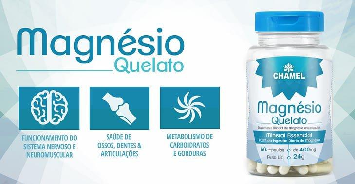 ch 107006 chamel capsulas magnesio de quelato 600mg 60 cp