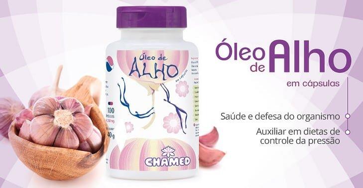 ch 4206 chamel capsulas oleo de alho 250mg 100 cp