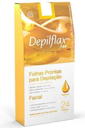 dx 26716 depilflax folhas prontas faciais natural c 24 un