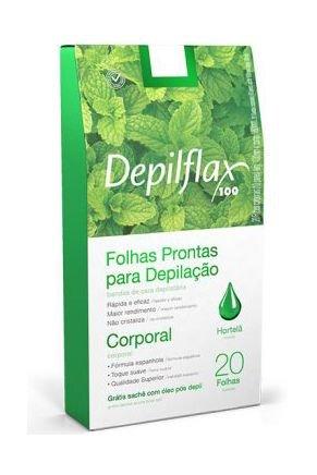 dx 26718 depilflax folhas prontas corporais hortela c 20 un