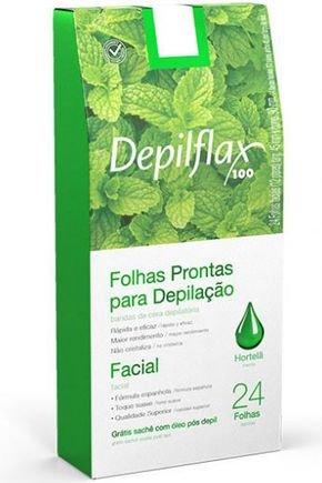 dx 26719 depilflax folhas prontas faciais hortela c 24 un
