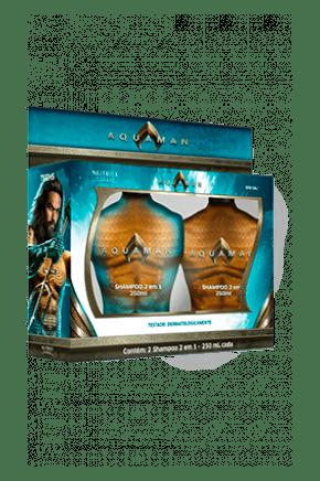 kit aquaman shampoo 2 em 1 shampoo 2 em 1 250ml cada