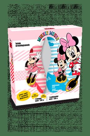 kit minnie suave shampoo 250ml condicionador 230ml cartela de adesivos