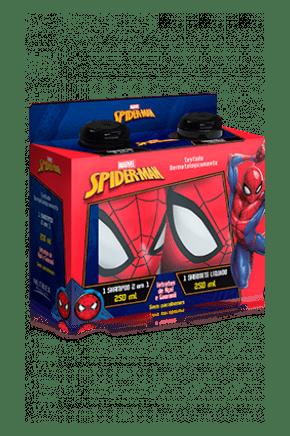 kit spider man shampoo 2 em 1 sabonete liquido 250ml cada