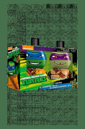 kit tartaruga ninja shampoo 250 ml condicionador 230ml leonardo e donatello