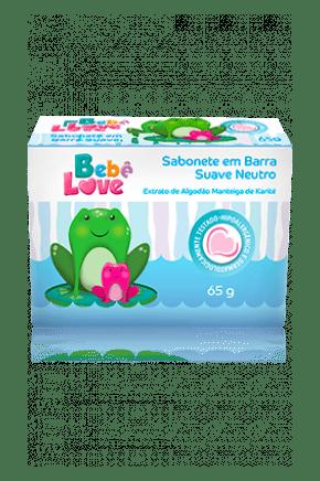 sabonete em barra bebe love suave neutro