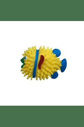 12 brinquedo mordedor vinil peixe para cachorro