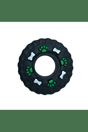 1450 brinquedo mordedor para cachorro pneu preto