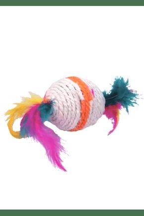 1532 brinquedo para gato bola de sisal pequena