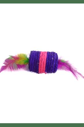 2018 brinquedo para gato cone de sisal com pena