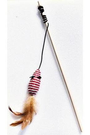 vara de madeira com ratinho