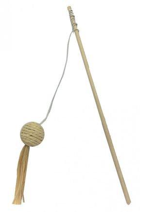 vara de madeira bola c guizo