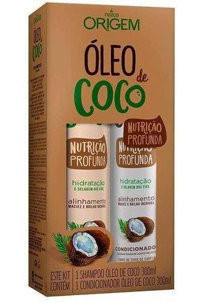 kit sh cond oleo de coco 300ml origem