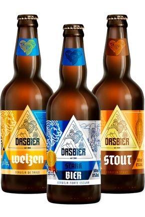 kit 4 das bier 3 cervejas