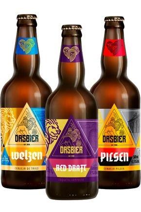 kit 5 das bier 3 cervejas