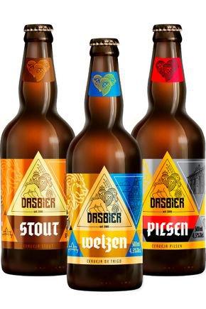 kit 9 das bier 3 cervejas